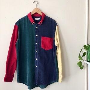 Vintage Corduroy Colorblock Shirt